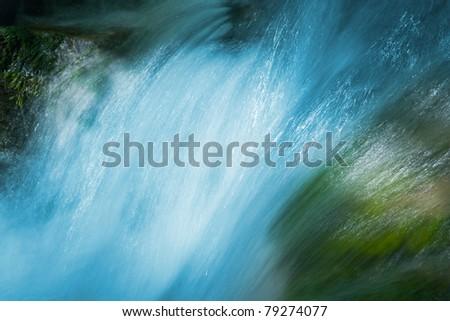 water of mountain stream - stock photo