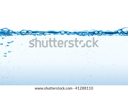 Water on a white background - stock photo