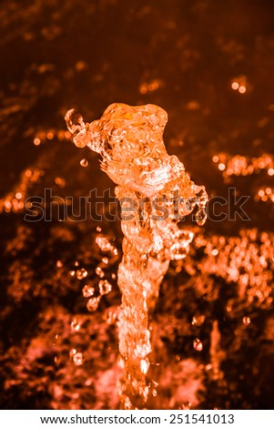 Water orange abstract  background - stock photo