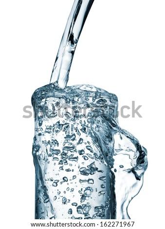 Water overflow - stock photo