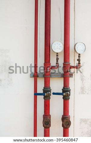 Water pipe drainage for fire protection. - stock photo