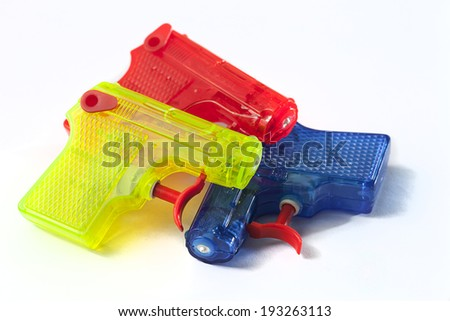 water pistol  - stock photo