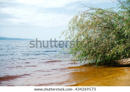 Water pollution. The concept of environment conservation. - stock photo