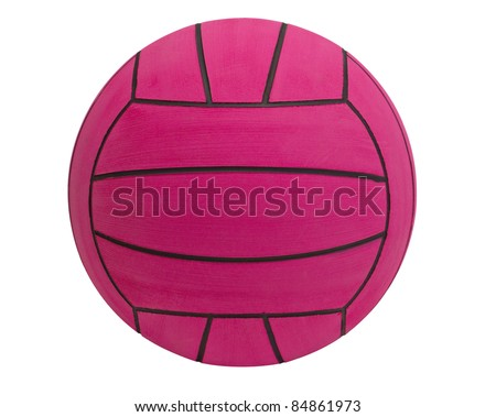 Water polo ball the water sport tool isolated on white  - stock photo