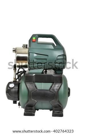 water pump isolated on a white background - stock photo