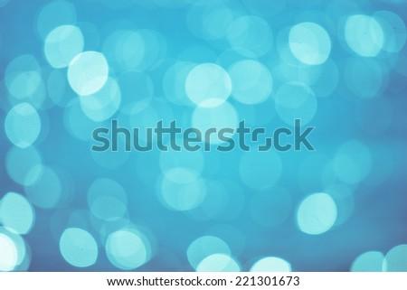 Water reflect light bokeh. - stock photo