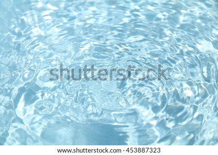 water ripple and shiny blue background #2 - stock photo