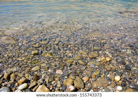 water, rock hard course - stock photo