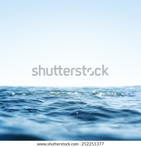 Water, Sea, Ocean, Wave. Close up Nature background. Soft focus  - stock photo