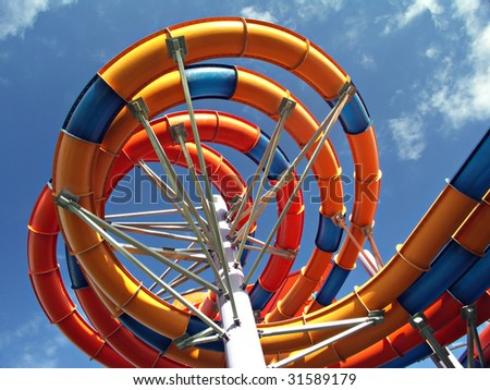 Water slide - stock photo