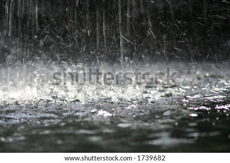Water splash - stock photo