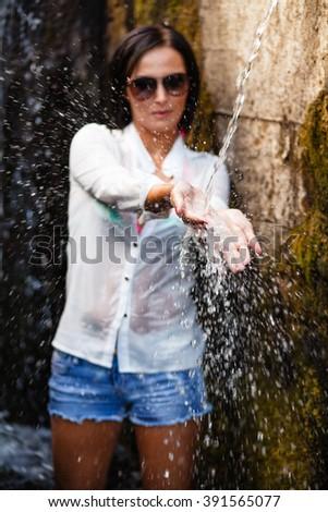 Water splash. - stock photo