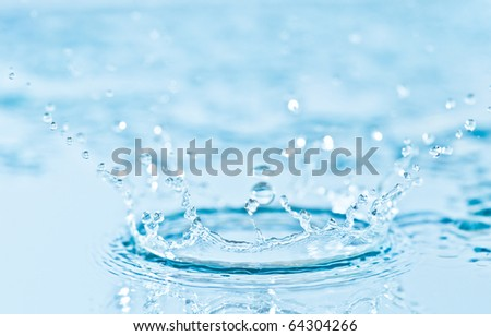 Water splash - stock photo