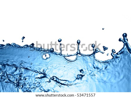 water splash background - stock photo