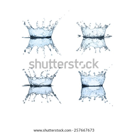 Water splash collection - stock photo