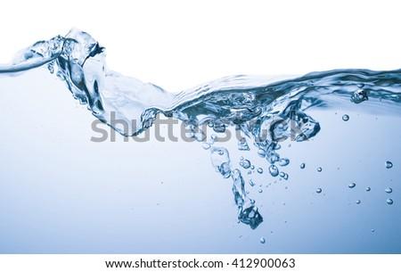 Water splash on a white background  - stock photo