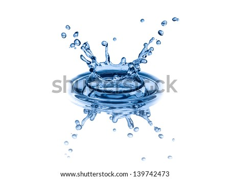 Water Splash On White - stock photo