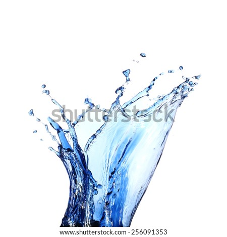 Water splashes isolated on a white background - stock photo