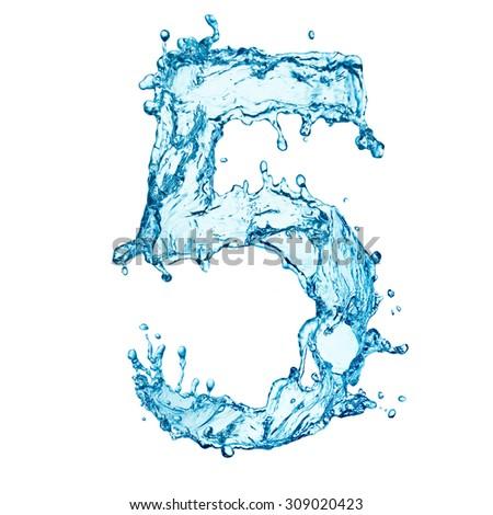 Water splashes letter - stock photo