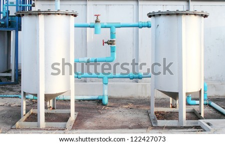 water storage tank in factory - stock photo