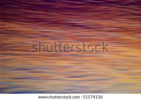 Water Surface at Sunset - stock photo