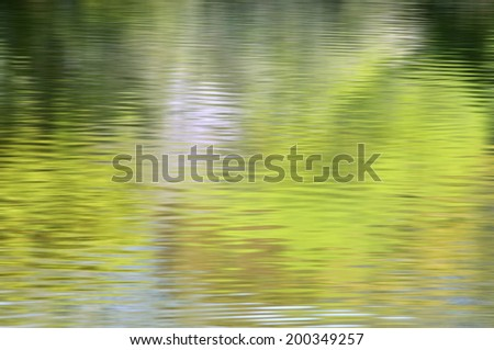 Water Surface Of The Fresh Green - stock photo