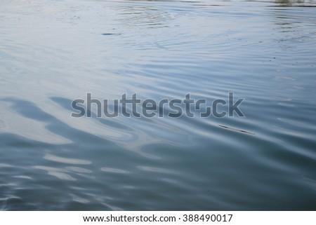 Water swirls - stock photo