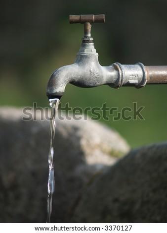 water-tap - stock photo