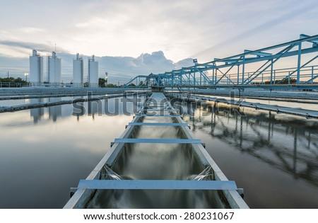 Water Treatment Plant - stock photo