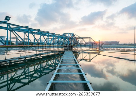 Water Treatment Plant at morning - stock photo