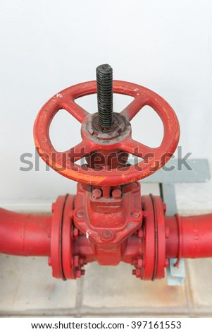 Water valve Fire - stock photo