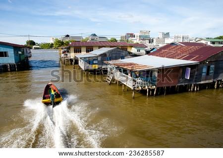 Water Village - Bandar Seri Begawan - Brunei - stock photo