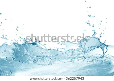 Water,water splash isolated on white background - stock photo