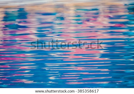 water waves and reflection - stock photo