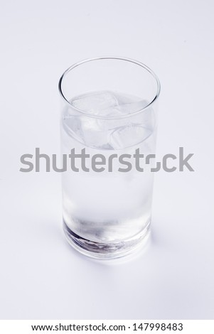 water with ice - stock photo