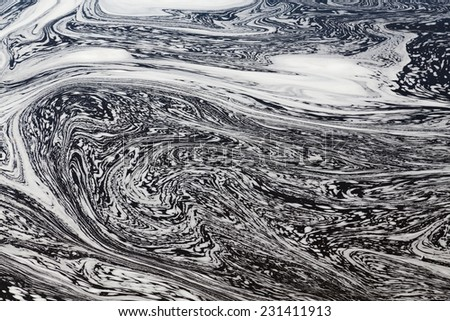 Water with Swirly Patterns in Ottawa River - stock photo