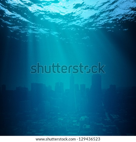 Water World. Global environmental backgrounds for your design - stock photo