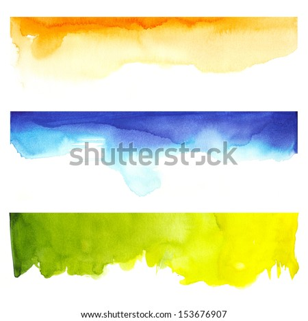 Watercolor and colors - stock photo