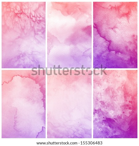 Watercolor Background. Abstract art painting texture - stock photo