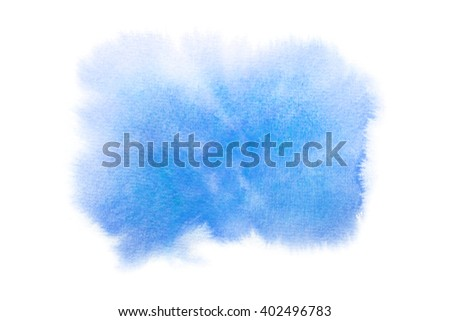 watercolor background blue - stock photo
