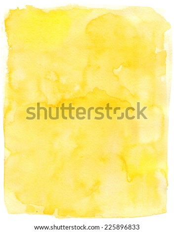 Watercolor background for textures. Abstract watercolor background. yellow - stock photo