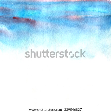"Watercolor background ""Sky"" - stock photo"