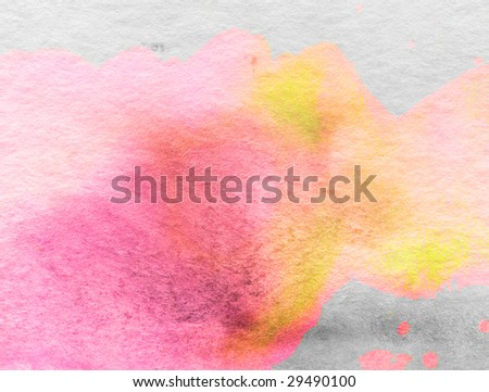 Watercolor background texture - stock photo