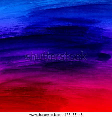 Watercolor colorful brush strokes, striped background - stock photo