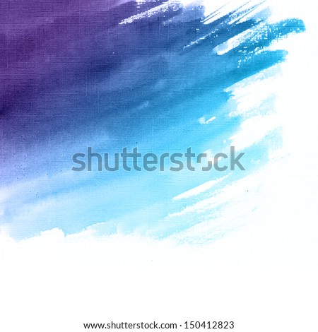 Watercolor hand drawn background - stock photo