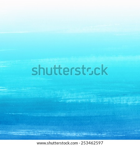 Watercolor hand drawn background. Abstract aquarelle texture backdrop. Hand drawn horizontal technique.  - stock photo