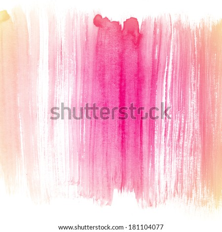Watercolor hand painted background. Abstract aquarelle hand drawn texture. - stock photo