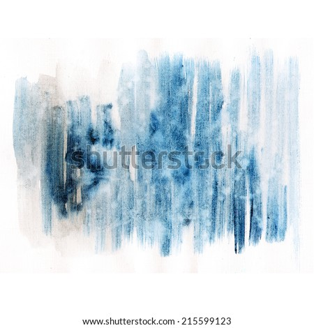 Watercolor hand painted brush strokes, striped background. Abstract lines aquarelle texture.  - stock photo