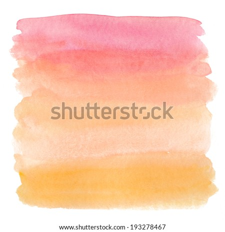Watercolor Ombre Background. Watercolor Wash. Ombre Watercolor Background. - stock photo