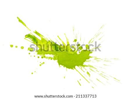 watercolor paint splash - stock photo